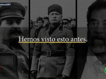 """La Casa Blanca compara en un vídeo a Maduro con Stalin, Mussolini o Gadafi: """"Hemos visto esto antes"""""""