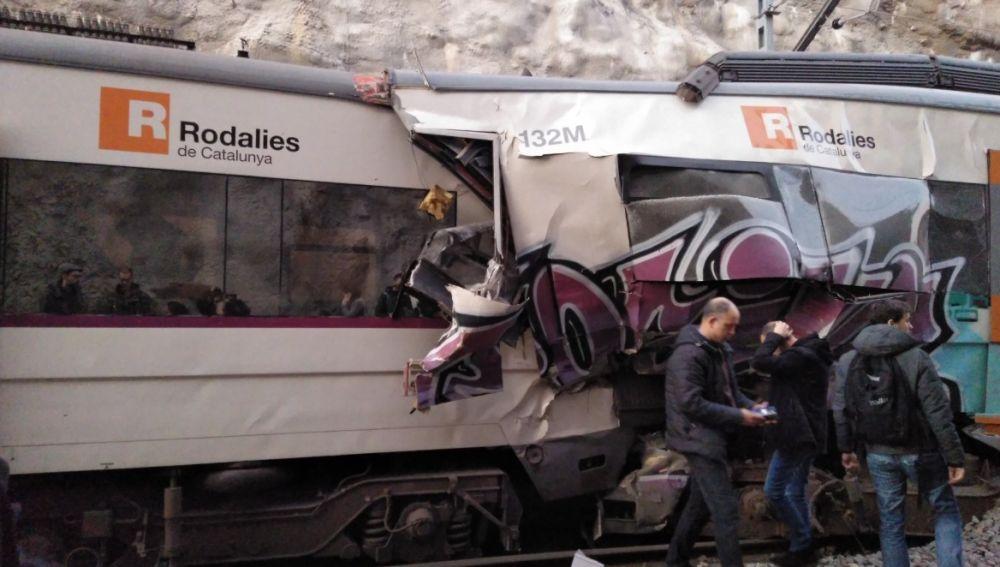 Accidente de tren en Manresa