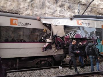Accidente de tren en Manresa