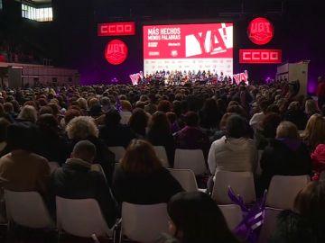 Acto sindicalista en Madrid