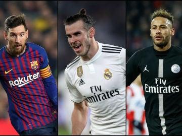 Messi, Bale y Neymar