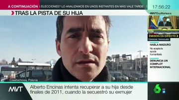 Alberto Encinas busca a su hija