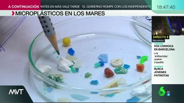 Imagen de microplásticos