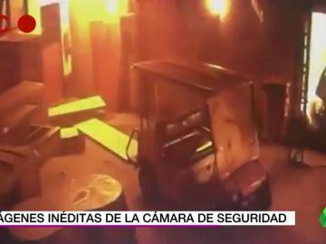 Inéditas y duras imágenes de la tragedia del incendio de la academia del Flamengo