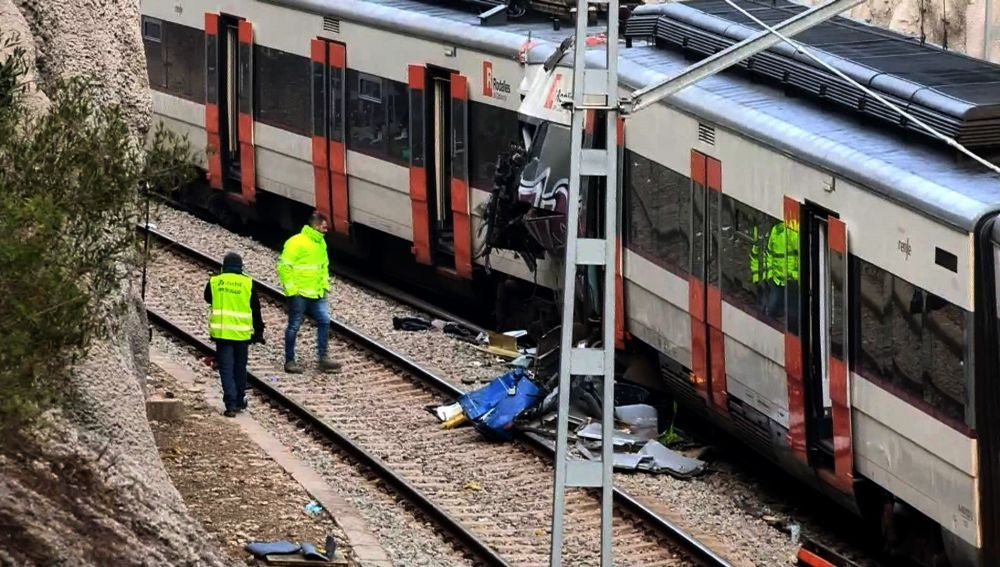 Accidente de tren en Barcelona