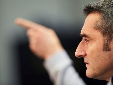 Valverde, en sala de prensa