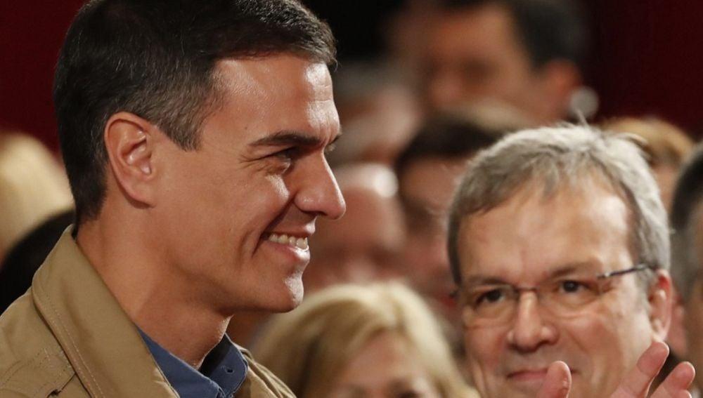 Pedro Sánchez en un acto en Barakaldo