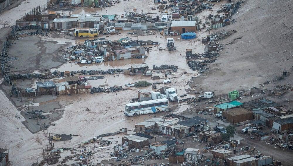 Imagen de las inundaciones en Chile