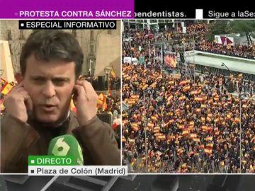 Manuel Valls, en la concentración contra Sánchez