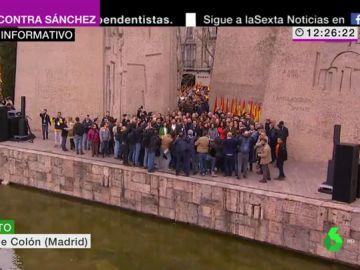 Fotografía política de la concentración contra Pedro Sánchez