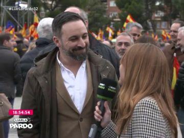 Santiago Abascal en la manifestación de Colón