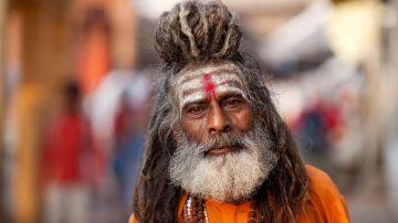 Un Sadhu, en Varanasi, India
