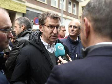 Alberto Núñez Feijóo a su llegada a la concentración de Madrid