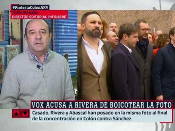 """Jesús Maraña analiza la foto de Albert Rivera con Vox: """"Intentan negar lo evidente, como en Andalucía, pero es una realidad que está ahí"""""""