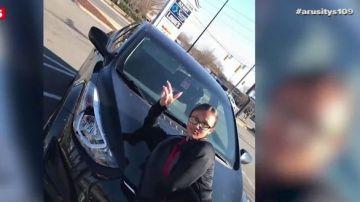 Atropella a su exnovio intencionadamente y después se fotografía con el coche que utiliza en el accidente