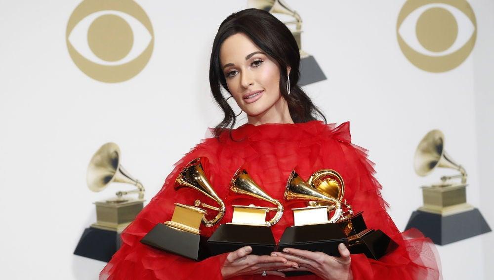 Kacey Musgraves en la 61 edición de los premios Grammy