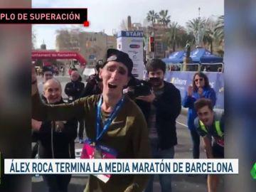 Un corredor con el 76% de discapacidad acaba el medio maratón de Barcelona