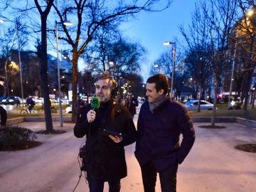 Alsina durante su entrevista con Pablo Casado en el especial Más de uno desde el exterior