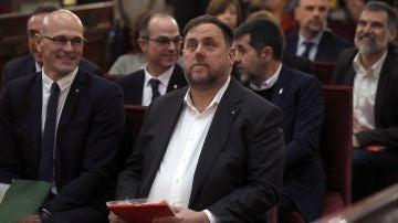 El exvicepresidente de la Generalitat, Orio Junqueras y el exconseller de Asuntos Exteriores de Cataluña, Raül Romeva