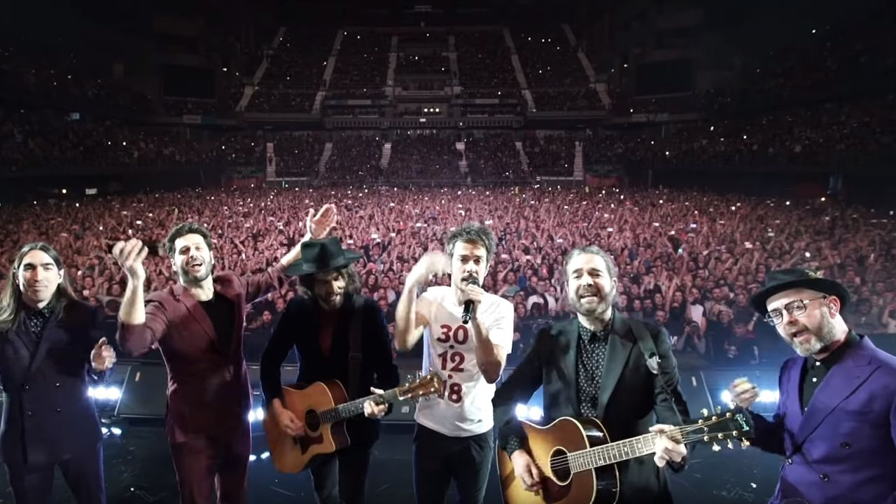 Vetusta Morla en su concierto 'El disco que cambió nuestras vidas' en el Wizink Center de Madrid