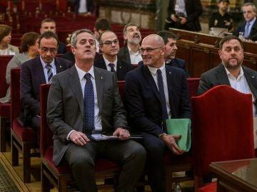 Los doce líderes independentistas acusados en el juicio al 'procés'