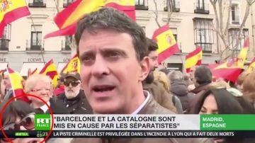 Manuel Valls en la manifestación en Colón contra el Gobierno de Pedro Sánchez