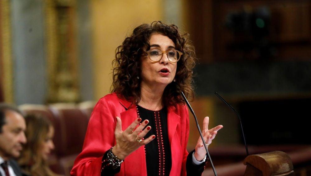 La ministra de Hacienda, María Jesús Montero