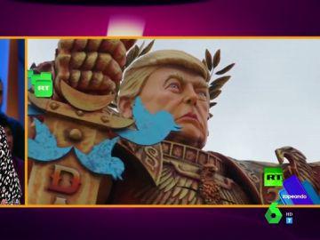 Un Trump gigante con armadura y espada: así es el disfraz que los zapeadores no quieren utilizar en Carnaval