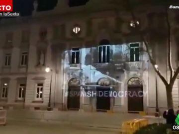 Juicios del 'procés': Los CDR proyectan un vídeo protesta en la fachada del Supremo horas antes del arranque del juicio