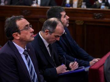 Los procesados en el juicio del 'procés', Josep Rull, Jordi Turull y Jordi Sánchez