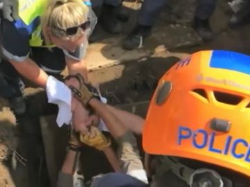 La bebé rescatada en Sudáfrica