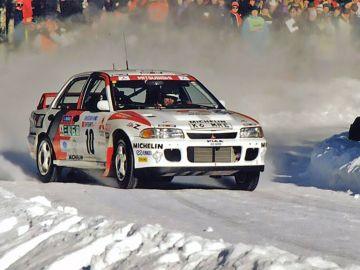 Kenneth Eriksson en el rally de Suecia de 1995