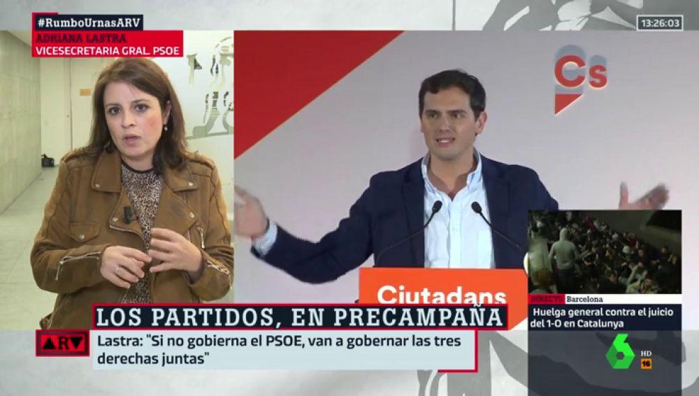 Adriana Lastra y Albert Rivera