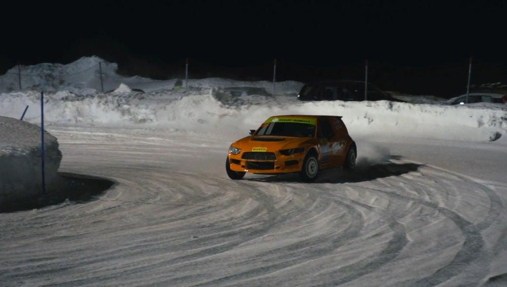 Pilotando con nieve