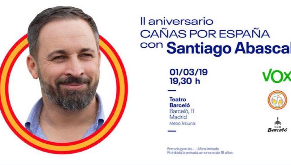 Cartel del evento 'Cañas por España'