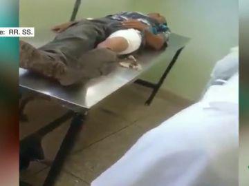 Víctimas de un choque en la frontera de Venezuela con Brasil