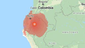 Zona afectada por el seísmo en Ecuador