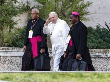 Imagen del papa Francisco en la cumbre sobre los abusos