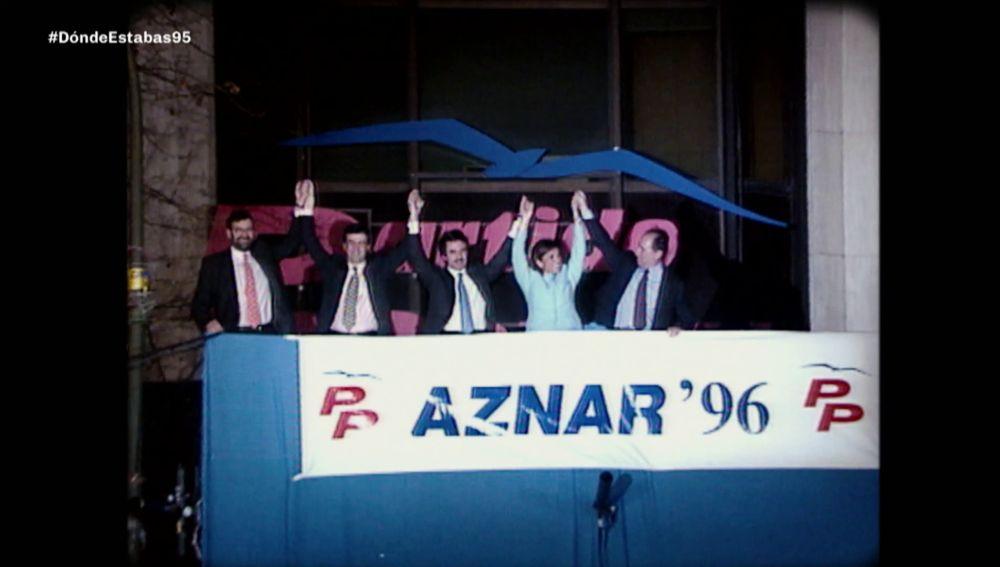 1996, el año de la llegada de Aznar a Moncloa