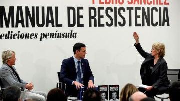 Mercedes Milá y Jesús Calleja presentaron el libro del presidente de Gobierno Pedro Sánchez