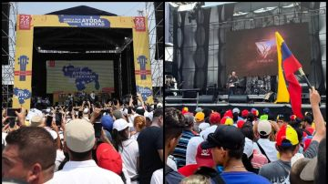 Imagen de los conciertos en Colombia y Venezuela