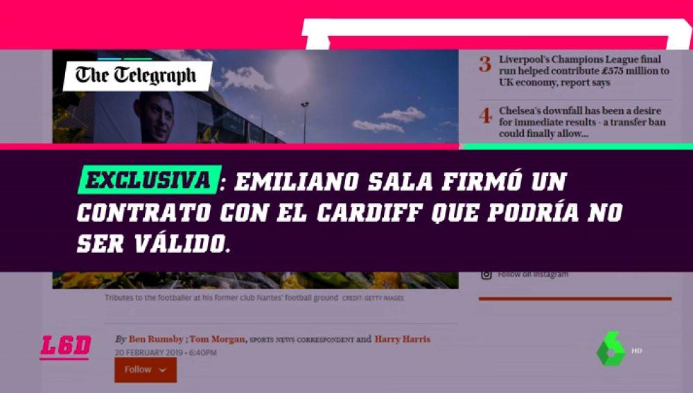 Emiliano Sala habría firmado un contrato inválido con el Cardiff