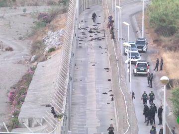 Valla fronteriza con España