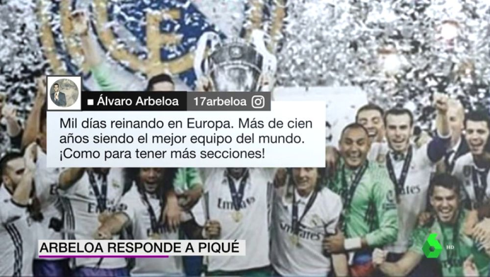 """Álvaro Arbeloa responde a Gerard Piqué: """"Mil días reinando en Europa... ¡Cómo para tener más secciones!"""""""