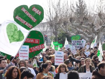 Manifestación por la Educación Especial en Valladolid
