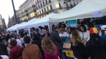 Recogida de alimentos en la Puerta del Sol de Madrid (Archivo)