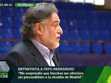 Pepu Hernández desvela cómo fue la llamada de Pedro Sánchez para que optara al Ayuntamiento de Madrid