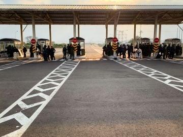 Miembros de la Guardia Nacional Bolivariana en la localidad fronteriza de Ureña, Venezuela