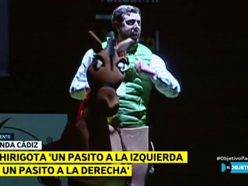 Imitación de Santiago Abascal en las chirigotas de Cádiz
