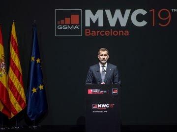 El rey Felipe VI en la cena de inauguración del Mobile World Congress